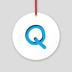 Q Ornament (Round)