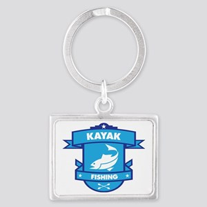 Kayak Fishing Landscape Keychain