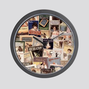 Vintage Magazine Cover Art Wall Clock