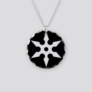 Shuriken Necklace Circle Charm