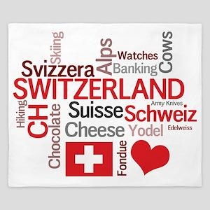 Switzerland2tilt King Duvet