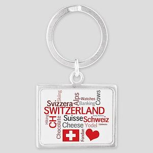 Switzerland2tilt Landscape Keychain