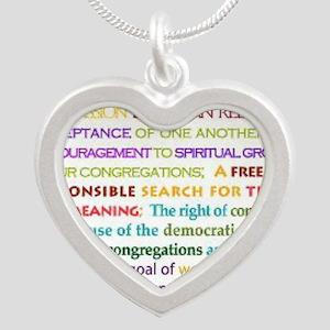 uu princB Silver Heart Necklace