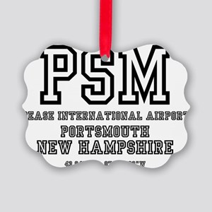 AIRPORT CODES - PSM - PEASE INTER Picture Ornament