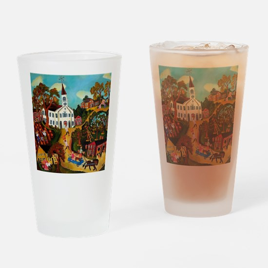Fall Country Drinking Glass