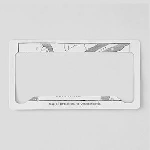 byzantiumconstantinoplemap(pc License Plate Holder