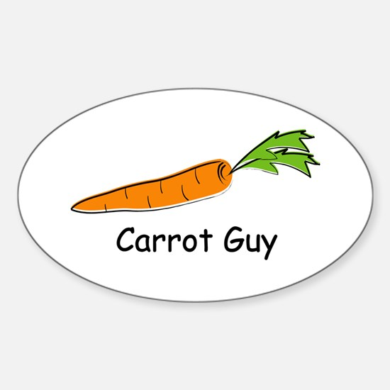 Carrot Guy Oval Decal