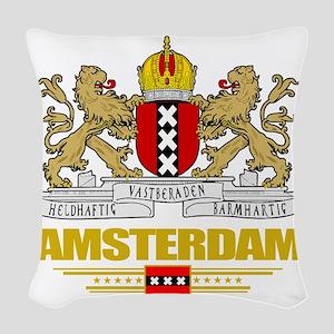 Amsterdam COA (Flag 10) Woven Throw Pillow
