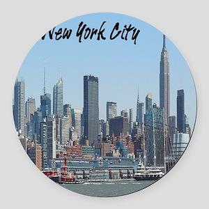 New York City Tile Coaster Round Car Magnet