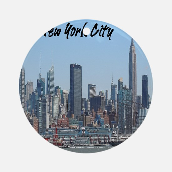 New York City Tile Coaster Round Ornament