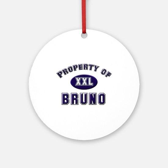 Property of bruno Ornament (Round)