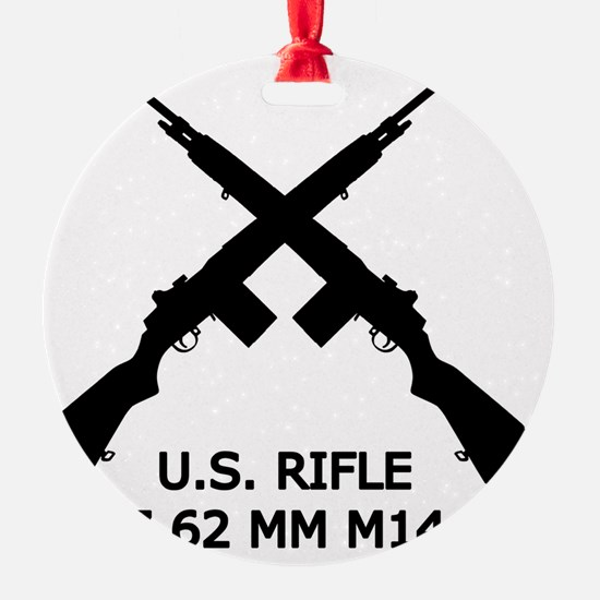 U.S.Rifle, Crossed, White OL Ornament