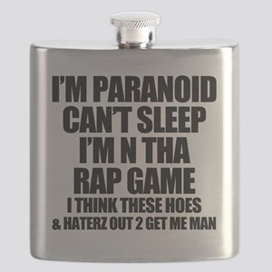 Im N Tha Rap Game - Lyric Tee Flask