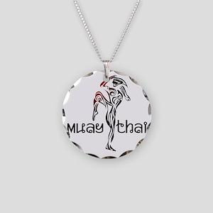 Muay Thai Necklace Circle Charm