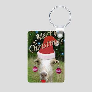 Merry Xmas Ruby Aluminum Photo Keychain