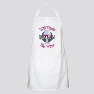 Will-Trade-Husband-for-Wine-blk Apron