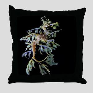 Leaf-see the shrimp Throw Pillow
