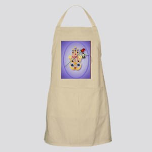 ornament_oval Hamsa and Flowers Apron