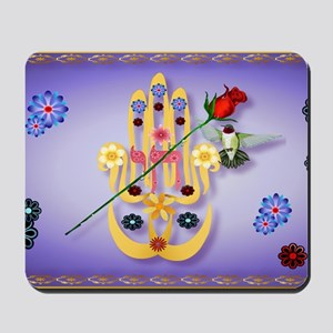Hamsa and Flowers-Yardsign Mousepad