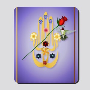_journal Hamsa and Flowers Mousepad