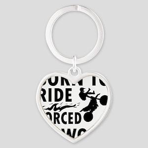 ride-bike Heart Keychain