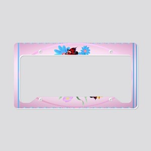 Wall Peel Lucky-Love Ladybugs License Plate Holder