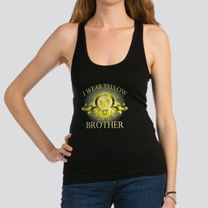 I Wear Yellow for my Brother (f Racerback Tank Top