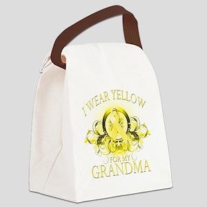I Wear Yellow for my Grandma (flo Canvas Lunch Bag