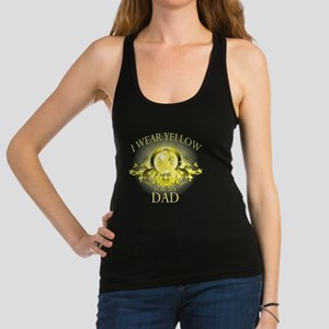 I Wear Yellow for my Dad (flora Racerback Tank Top