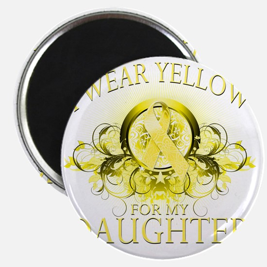 I Wear Yellow for my Daughter (floral) Magnet