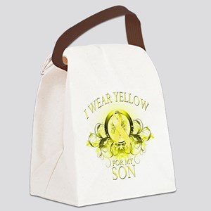 I Wear Yellow for my Son (floral) Canvas Lunch Bag