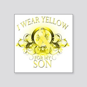 """I Wear Yellow for my Son (f Square Sticker 3"""" x 3"""""""