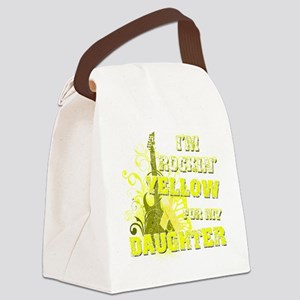 Im Rockin Yellow for my Daughter Canvas Lunch Bag