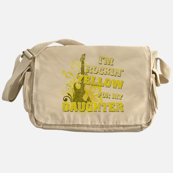 Im Rockin Yellow for my Daughter Messenger Bag
