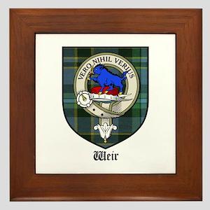 Weir Clan Crest Tartan Framed Tile