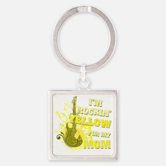 Im Rockin Yellow for my Mom Square Keychain