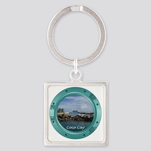 coco-cay2 Square Keychain