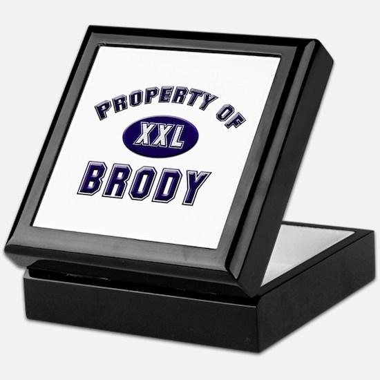 Property of brody Keepsake Box