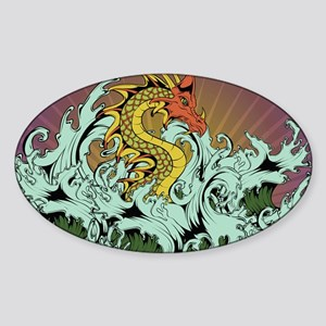 Sea Serpent Sticker (Oval)