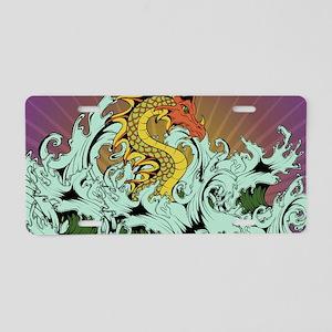 Sea Serpent Aluminum License Plate