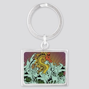Sea Serpent Landscape Keychain