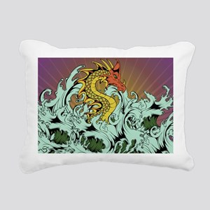 Sea Serpent Rectangular Canvas Pillow