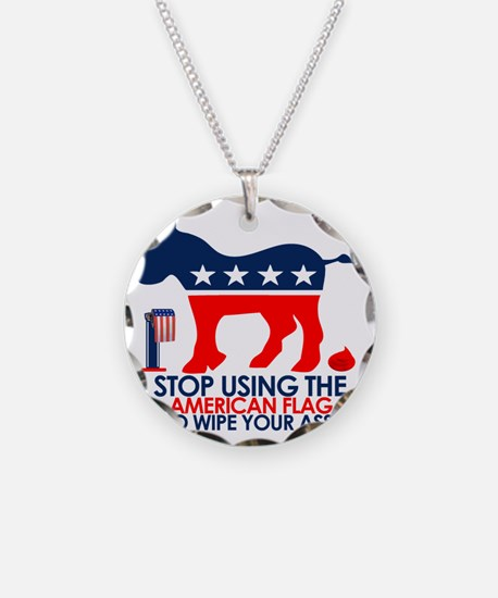 Anti Democrat / STOP tee Necklace