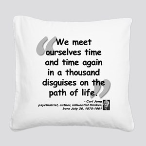 Jung Path of Life Square Canvas Pillow