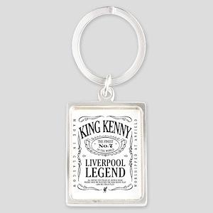 kennyfinestartblack Portrait Keychain