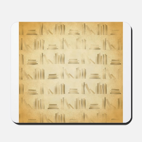 Books Pattern, Old Look Style. Mousepad