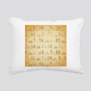 Books Pattern, Old Look Style. Rectangular Canvas