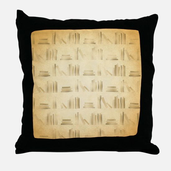 Books Pattern, Old Look Style. Throw Pillow