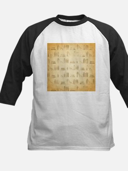 Books Pattern, Old Look Style. Baseball Jersey
