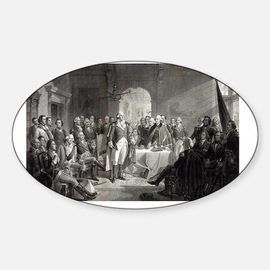 11x17_MiniPosterPrint_WashingtonGen Sticker (Oval)